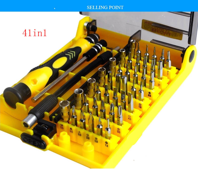 45 in 1 laptop repair tool kit hand tools hardware tools screwdriver set for cell phones. Black Bedroom Furniture Sets. Home Design Ideas