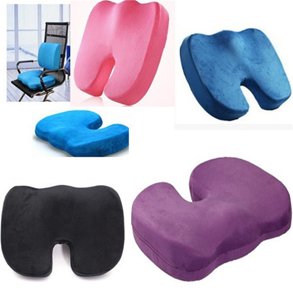 Hot New Coccyx Orthopedic Memory Foam Seat Cushion for Chair Car Office home bottom seats Massage cushion(China (Mainland))