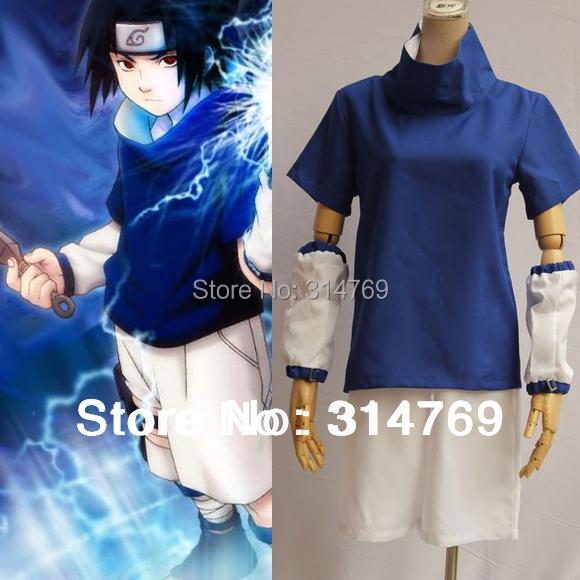 Naruto Cosplay Costumes Uchiha Sasuke 1st Men's Costume Set for Halloween Party Cosplay clothes(China (Mainland))