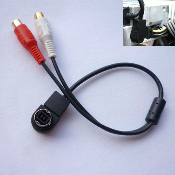 Car Accessory Aux Input Cable For ALPINE KCA-121B AI-NET RCA Auxiliary Wavors(China (Mainland))