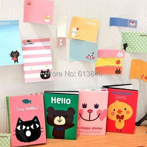 2 sets/lot DIY Cute Animal Cat Bear Memo Pad Sticky Note Kawaii Paper Sticker Pads Creative Gift Stationery Free shipping<br><br>Aliexpress