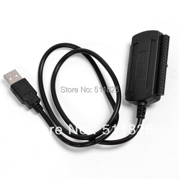 free shipping 3 in 1 USB 2.0 to SATA / IDE HD HDD Adapter Cable #9859