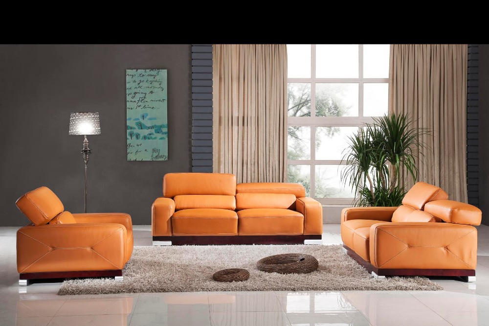 2015 new post modern sectional leather sofa set european for Latest drawing room furniture