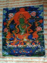 TBC953  Tibetan Prayer Flags,92*66cm,colorful silk Tibetan eight auspicious Lung Ta Wind Horse flag,TARA