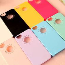 Для iPhone 6 6 s роуз симпатичные цвета конфеты любящее в форме сердца цветка кружева жесткий телефон чехол подруги