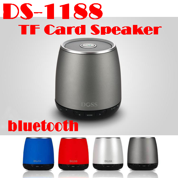by dhl or ems 20 pieces New Wireless Bluetooth TF Card Speaker MINI DOSS DS-1188 For iPhone/iPad/Samsung/cellphone(China (Mainland))
