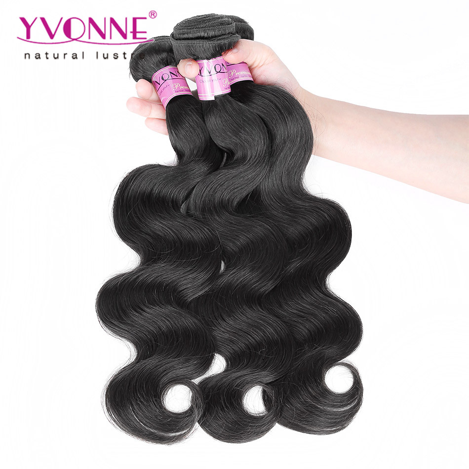 Гаджет  Natural Color Brazilian Virgin Hair Body Wave,100% Human Hair Extensions,New Arrival Top Quality Aliexpress YVONNE Hair None Волосы и аксессуары