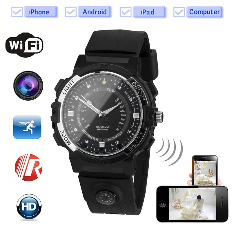 2017 built in 8 Camera Wifi watch Wireless Mini P2P WiFi IP Camera Pocket Mini DVR WIFI Watch for iphone Android wifi watch Y30(China (Mainland))