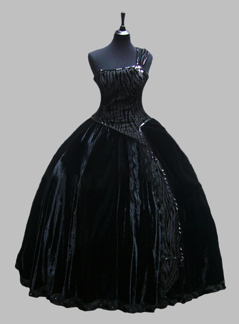 Deluxe Black One Shoulder Sleeveless Victorian Ball Gown Venice Carnival CostumОдежда и ак�е��уары<br><br><br>Aliexpress
