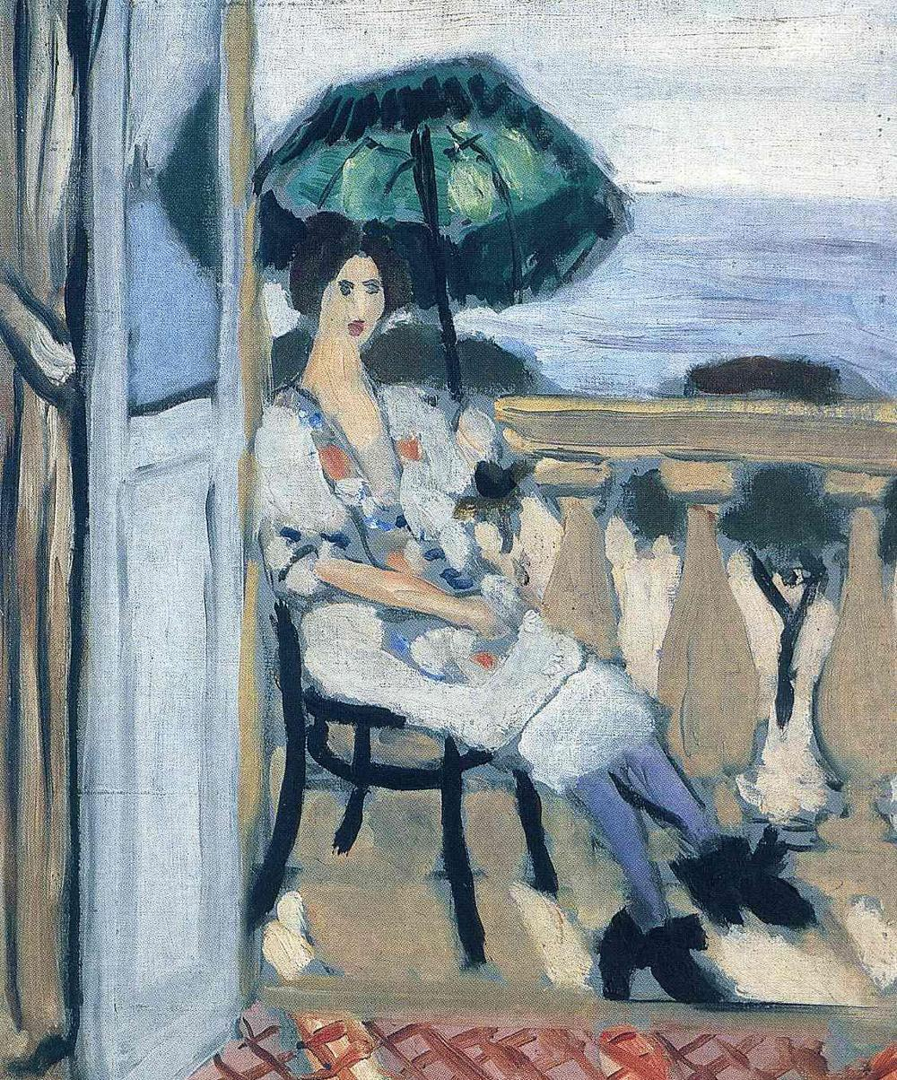 Woman Umbrella Painting Woman Holding Umbrella by