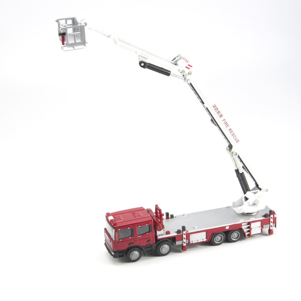 1/50 Aerial Lift Truck Fire Vehicle Alloy Metal Diecast Model Car By KDW(China (Mainland))