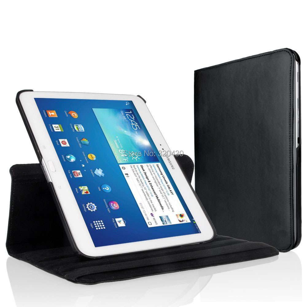 360 Rotating Case Cover for Samsung Galaxy Tab3 10.1 Tablet GT-P5200 GT-P5210 p5220 with magnet Auto Sleep/Wake function(China (Mainland))