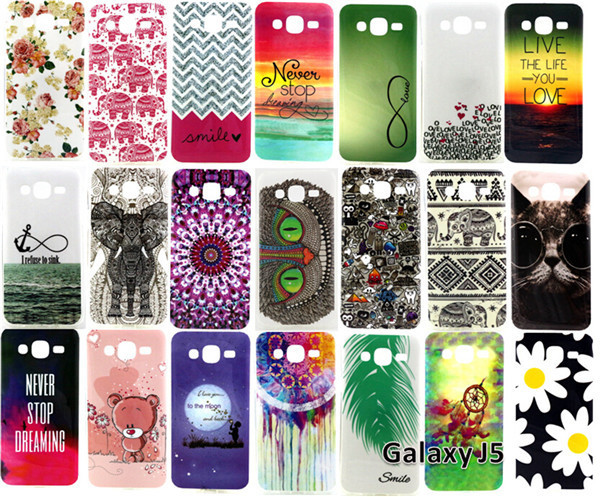 For Samsung Galaxy J5 J500 SM-J500F Covers Flowers Elephant Owl Soft TUP Mobile Phone Cases Protective Back Cover High Quality(China (Mainland))