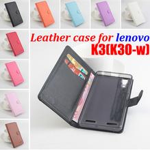 Brand Litchi Grain For Lenovo K3 (K30-w) Case Cover, High Quality Leather Case Back cover For Lenovo K30w K3 Case Phone In Stock