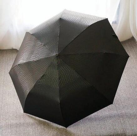 Кожа мужчин бизнес полностью автоматический зонт творческий три складной ветер усиленный доказательством self-открытия и самозакрывающийся зонтик