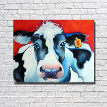 Buy BA Oil Painting Hand Painted Big Size High Beautiful Cow Oil Painting Home Decor Wall Art Cheap Painting Framed for $12.83 in AliExpress store