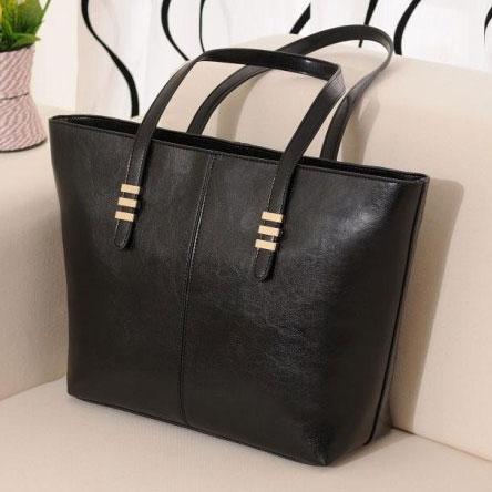 promotion 2015 Brand New casual women fashion genuine PU Leather handbag bags women cowhide shoulder bag large tote bag(China (Mainland))