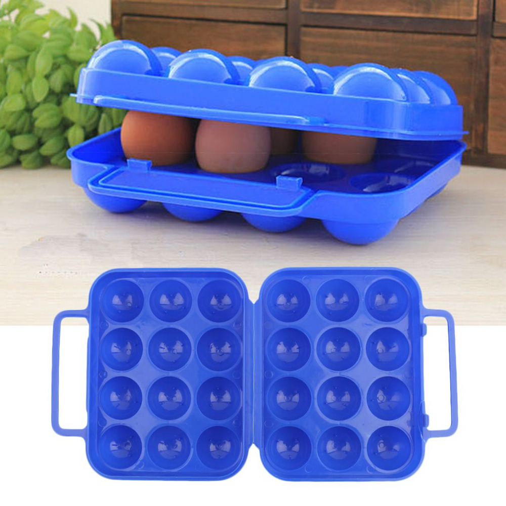 Large Capacity 12 Eggs Storage Box Case Portable Picnic Egg Storage Container Holder Folding Basket Camping Carrier Free Ship(China (Mainland))