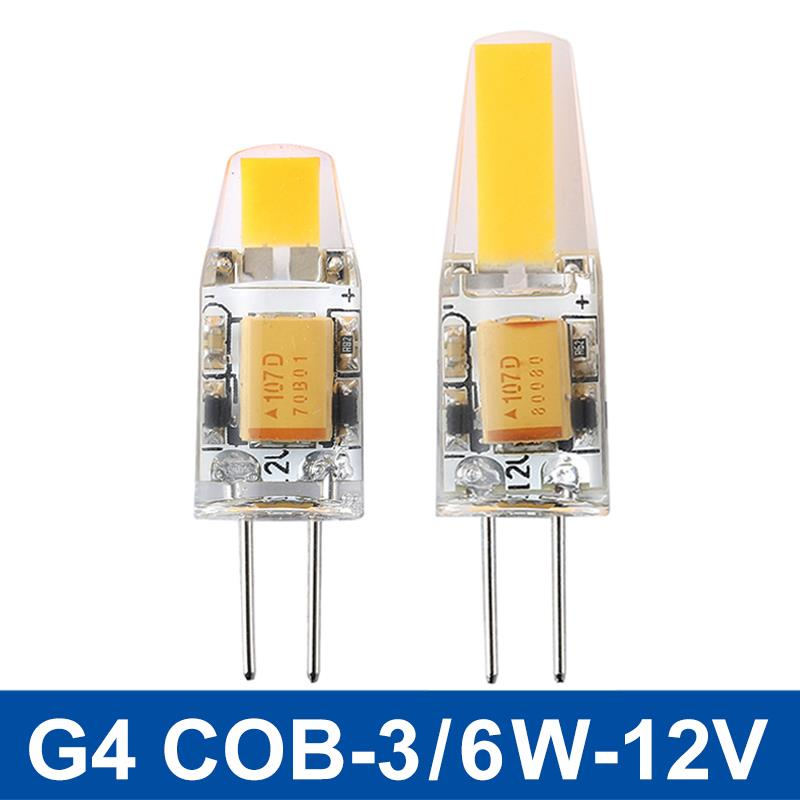 Mini G4 LED Lamp COB LED G4 Bulb 3W 6W AC/DC 12V LED Light Dimmable 360 Beam Angle Chandelier Lights Replace Halogen Lamps(China (Mainland))