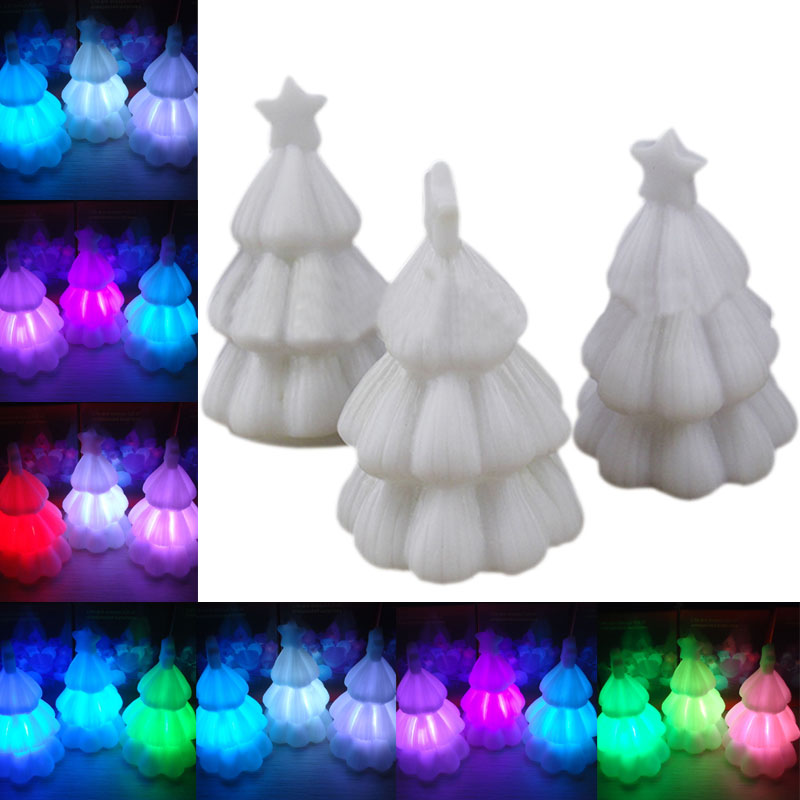 7 Colors Changing Night Light Mini LED Christmas Tree Xmas Party Decoration Lamp 88<br><br>Aliexpress
