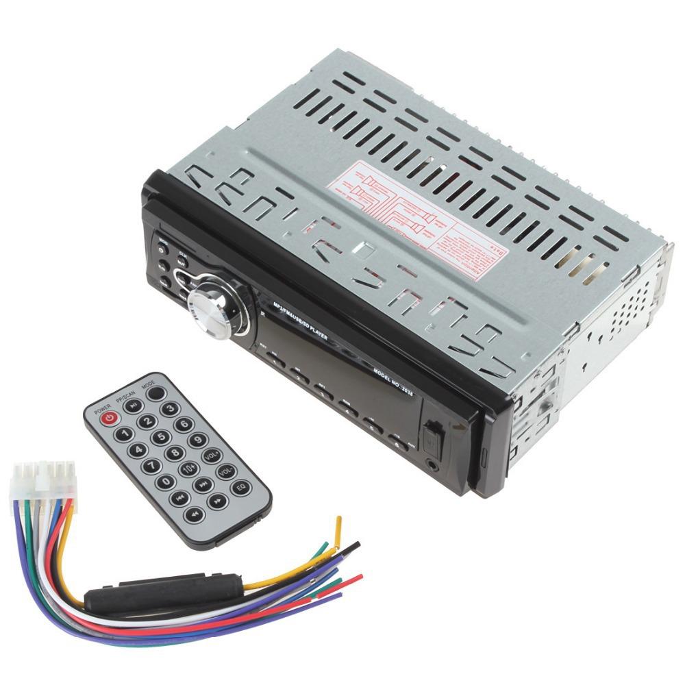 Автомобильная электроника MP3 / FM приемник и USB / SD плеера в тире автомобиля стерео Aux вход с дистанционным управлением