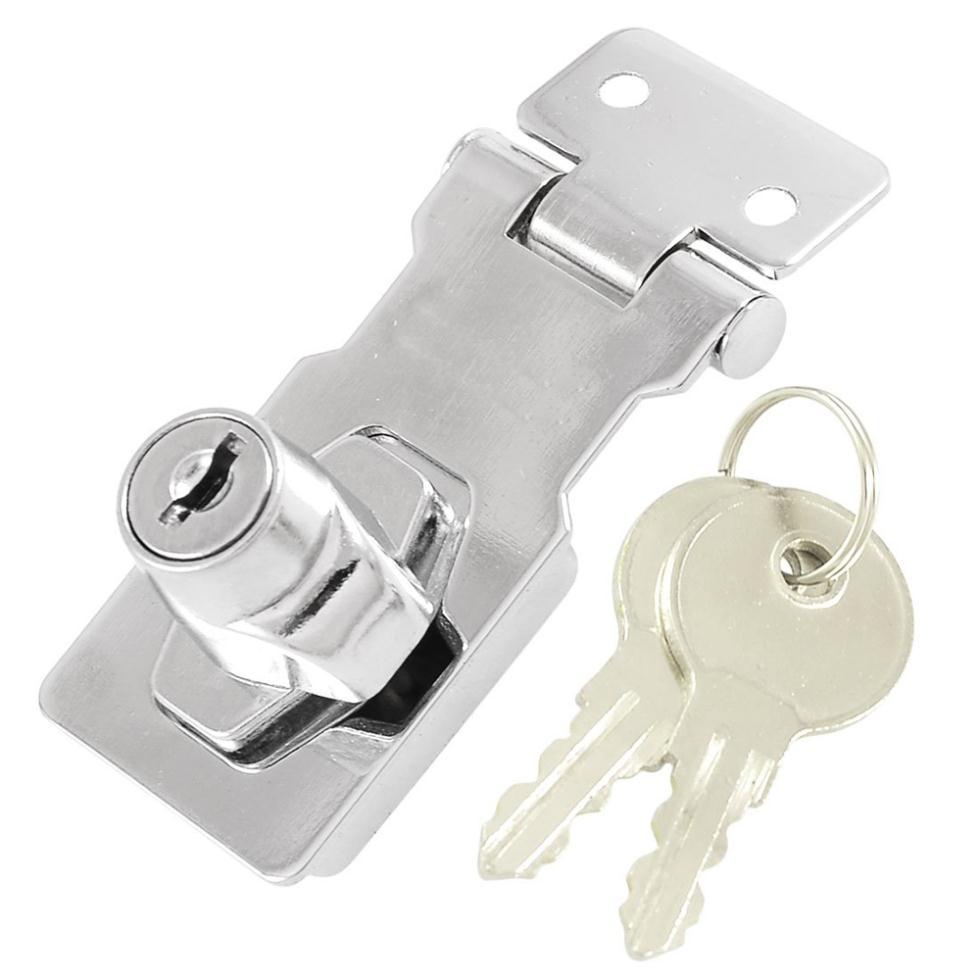 """Гаджет  IMC Wholesale Closet Door Chrome Plated Metal Keyed Hasp Lock 2.5"""" Long None Аппаратные средства"""