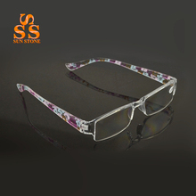 High Quality Fashion Colors Resin Reading Glasses Women Men Super Light Anti Fatigue Flower Design Look Younger Magnifier.G391(China (Mainland))