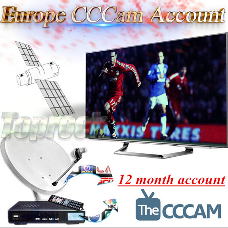 Best CCcam Europe Cline Server 1 year Satellite Decoder Spain UK Germany France Italy(China (Mainland))