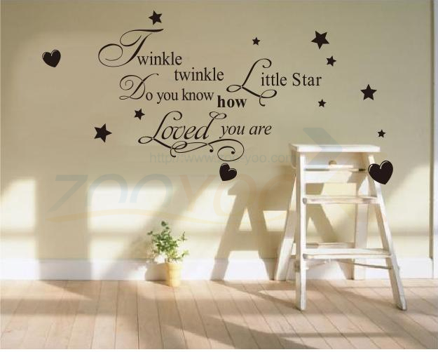 Twinkle Litter Star decor creative quote wall decal ZY8064 decorative adesivo de parede removable vinyl sticker ^ - Shanghai Paradise home decoration store