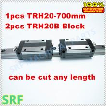 High Precision 1pcs Linear rail 20mm TRH20 L=700mm Linear Guide Rail+2pcs TRH20B Pillow block for cnc