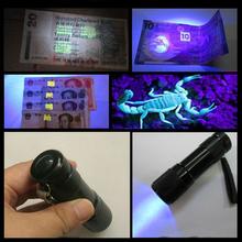 Buy z10 Mini LED flashlight 9 LED UV Torch Light Aluminum Portable light UV Flashlight torch Violet Light Lamp for $1.50 in AliExpress store