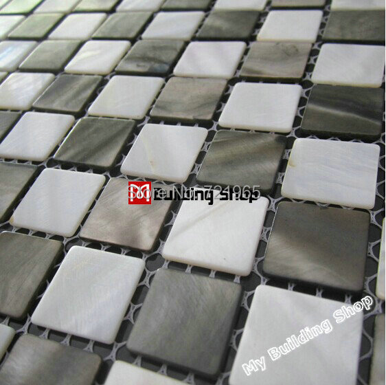 White mother of pearl tile backsplash MOP117 gray shell mosaics bathroom wall tile mother of pearl tiles<br>