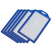 FS Hot Vertical Business ID Badge Card Holders, 5 Pcs, Clear Blue(China (Mainland))