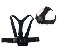 Go pro Harness Adjustable Elastic Chest Gopro Belt Head Strap Mount strap with Plastic Buckle For