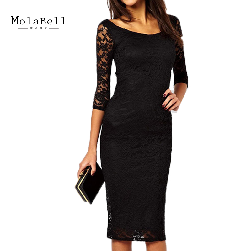 elegant black lace dresses - photo #27