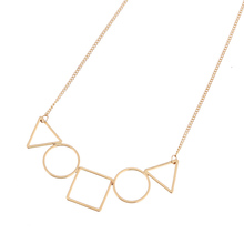 Brand New Fashion Jewelry Necklace Popular Matte Black Gold Silver Alloy Geometric Triangle Pendant Necklace for