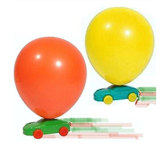 Balloon Powered Racer Cars - Ideal Fun Party Bag Fillers Classic Toys(China (Mainland))