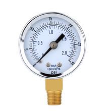 Dial Air Compressor Meter Hydraulic Pressure Gauge Gage manometro aire Double Scale calibrador de presion manometer Mini(China (Mainland))