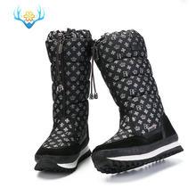 BUFFIE 2020 Yeni Pamuk Sıcak Yeni Sıcak Yün Deri Kar Botları 2020 Orta Buzağı Kar Botları Kalın su geçirmez botlar için kadın JSH-M0768(China)