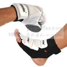 1 Pair man and children boxing gloves PU Leather Taekwondo Foot Protector MMA Karate Foot Pads Gear taekwomdo ankle brace(China (Mainland))