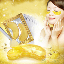 5 Packs Moisturizing Eye Patches Sheet Beauty Gold Crystal Collagen Eye Mask 6ZEF