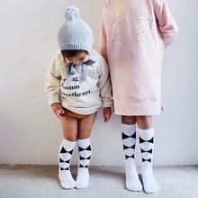 KIKIKIDS Kids Boys&Girls Ins Bowtie& Diamend  Middle Socks, Baby Girls Socks, 0-6Y size if you buy 12pairs, then 51% off(China (Mainland))