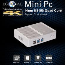 Cheapest Small TV Box Mini PC Intel Nuc PC Windows 10 Fanless Barebone PC 8GB RAM 128GB SSD VGA HDMI 4K Kodi HTPC Computer(China (Mainland))