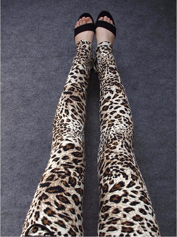 Leopard Flowers Leggings