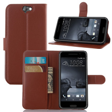 Hot Selling Wallet Style PU Leather Case for HTC One A9 with Stand Function and Card Holder 9 Color(China (Mainland))