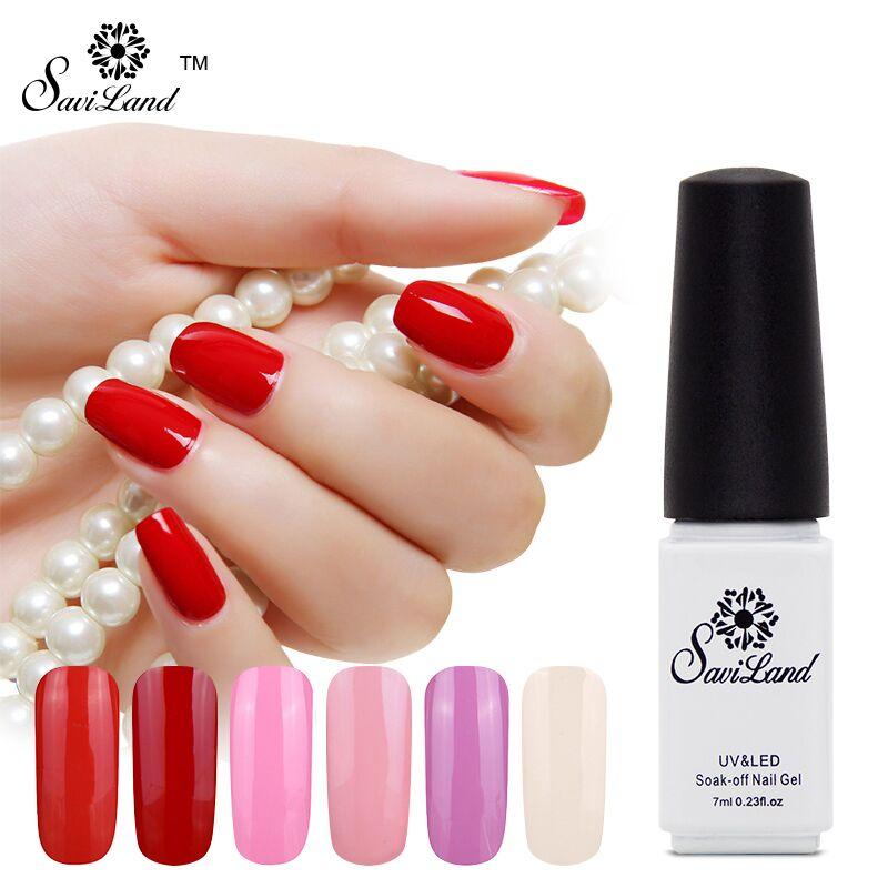 Saviland New Fashion Pure Colors Gel Nail Polish Top And Base UV LED Color Bright Simple Nail Finger Nail Gel Polish(China (Mainland))