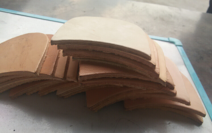 Good quality genuine grain vegetable leather piece, shoe leather material, soles leather fabric, 4mm(China (Mainland))