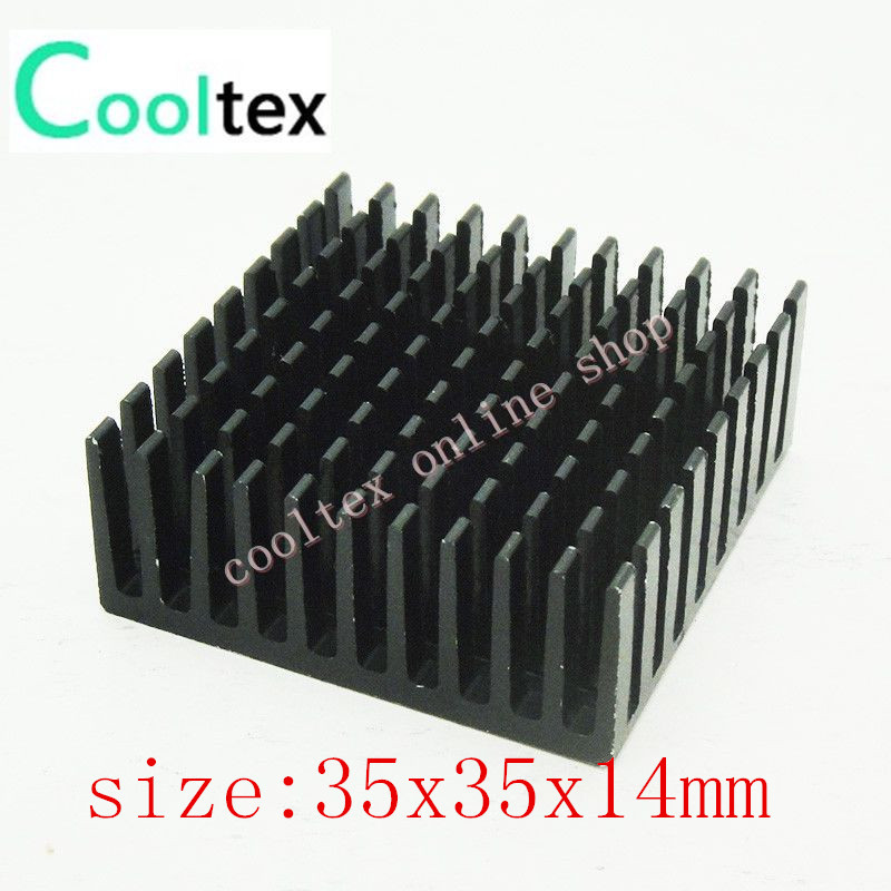 100pcs 35x35x14mm  Aluminum Heatsink, radiator,Chip CPU GPU VGA RAM LED IC Heat Sink,COOLER