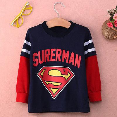 2016 Новая Мода Детская Одежда С Длинным Рукавом Super man Бэтмен Толстовки Дети Толстовки Топ