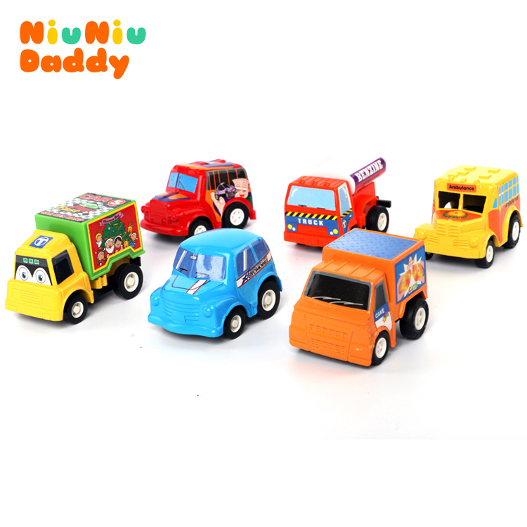 Pull back car Multicolor plastic toy educational toys children's gift baby playing toys Pull Back Model Set Car Free shipping(China (Mainland))